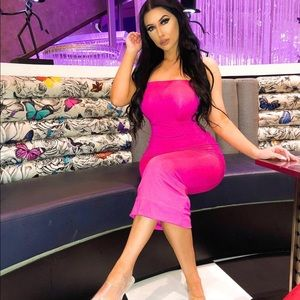 Dresses & Skirts - Hot Pink Tube Maxi Dress